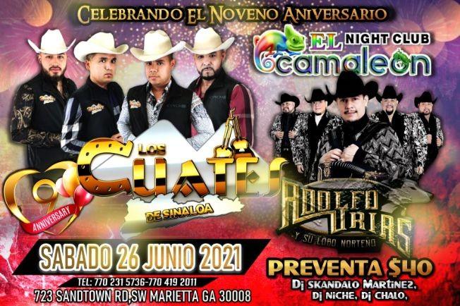 Flyer for Los Cuates de Sinaloa y Adolfo Urias y su Lobo Norteño!