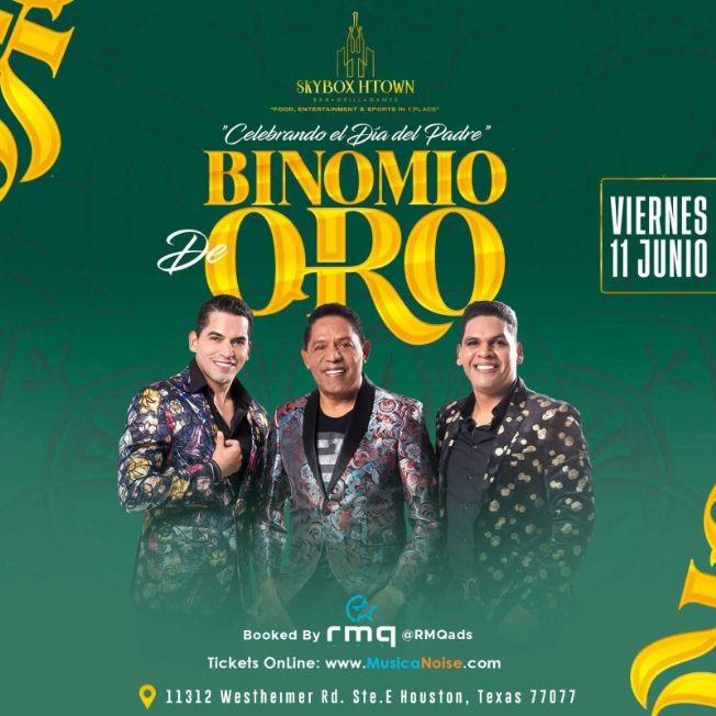 Flyer for BINOMIO DE ORO