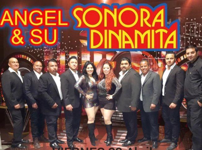 Flyer for Angel y Su Sonora Dinamita en Concierto