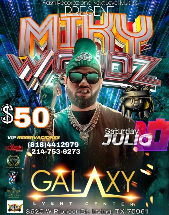 Flyer for MIKY WOODZ DALLAS