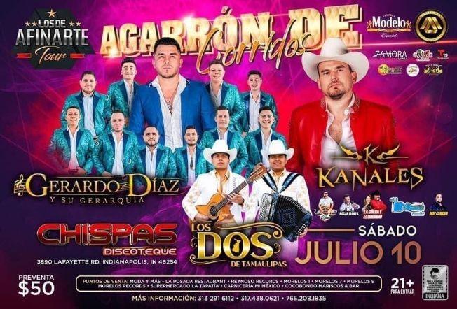 Flyer for Gerardo Diaz y SuGerarquia, Kanales, Los Dos de Tamaulipas y mas en Vivo!