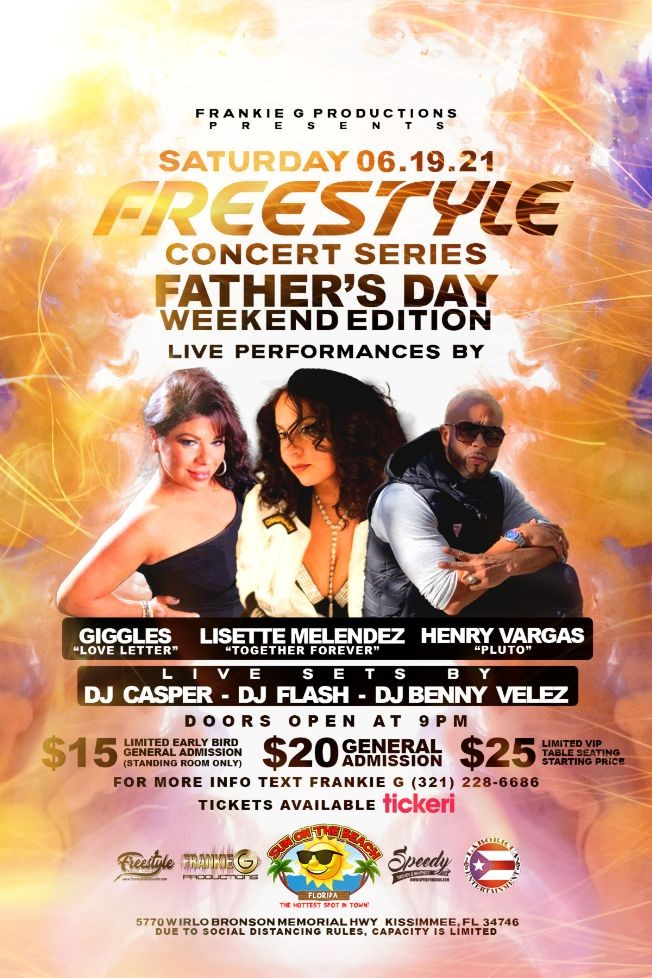 """Flyer for Freestyle Concert Series """"Father's Day Weekend Edition"""""""