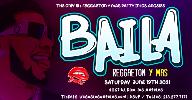Flyer for Veso's is back! Here to bring you BAILA Reggaetón y Mas 18+ Event