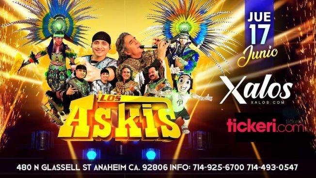 Flyer for Los Askis en Concierto en Xalos Night Club!
