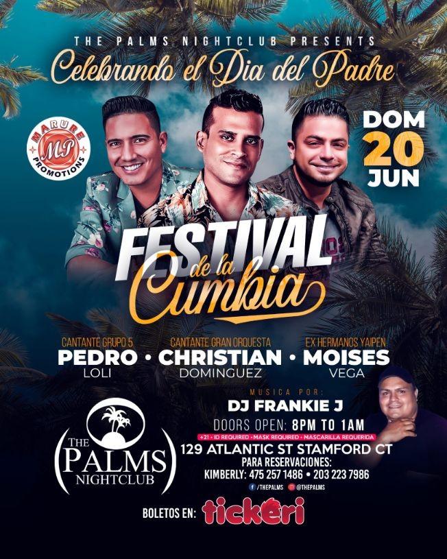 Flyer for FESTIVAL DE LA CUMBIA EN CONNECTICUT