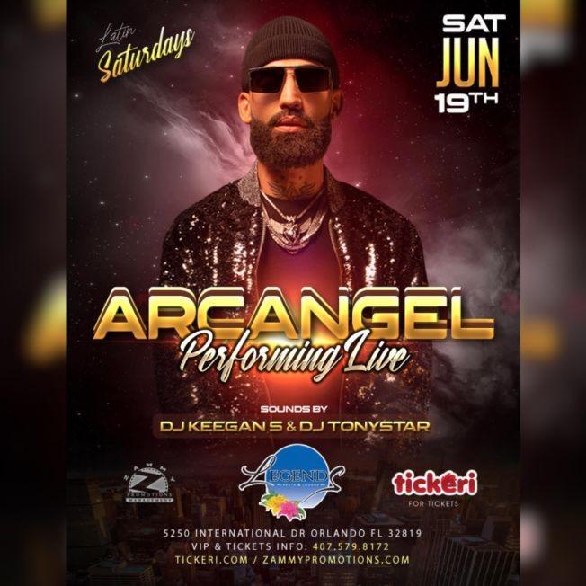 Flyer for ARCANGEL Perfoming Live! / TICKETS ON SALE NOW! @ DOOR