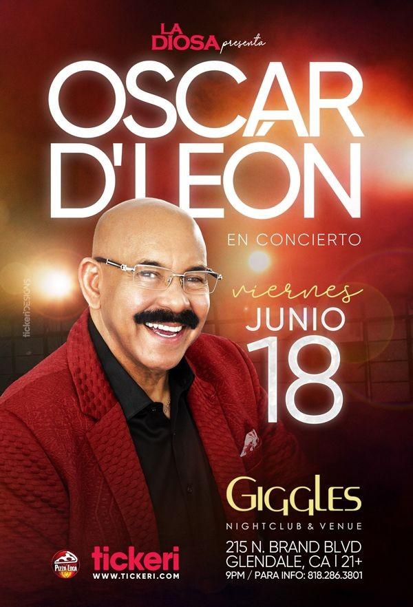 Flyer for OSCAR D' LEON EN LOS ANGELES