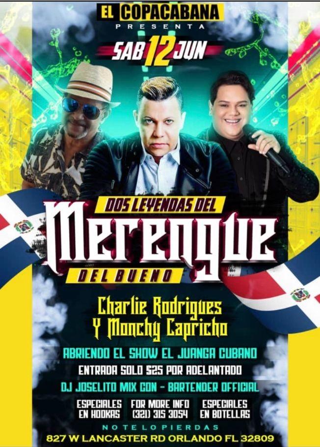 Flyer for Monchy capricho y Charlie Rodríguez