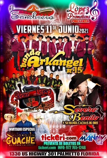 Flyer for Gran Bailazo en El Sombrero de Palmetto Florida