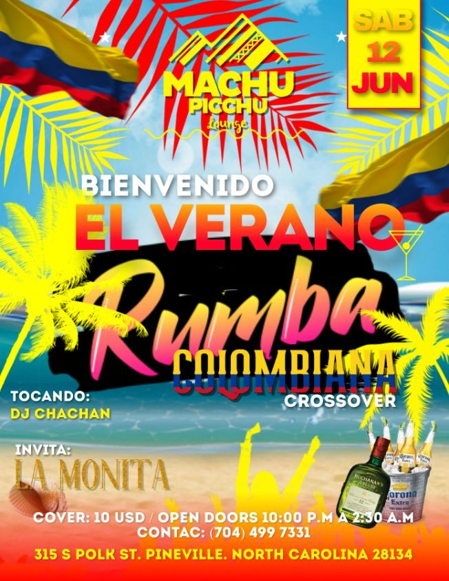 Flyer for Rumba colombiana Crossover 🇨🇴🇨🇴