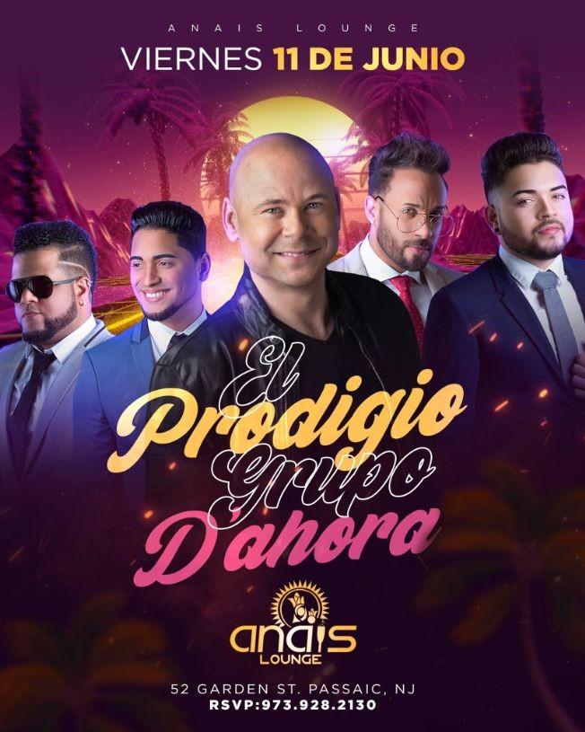 Flyer for El Prodigio y Grupo D'Ahora en Vivo!