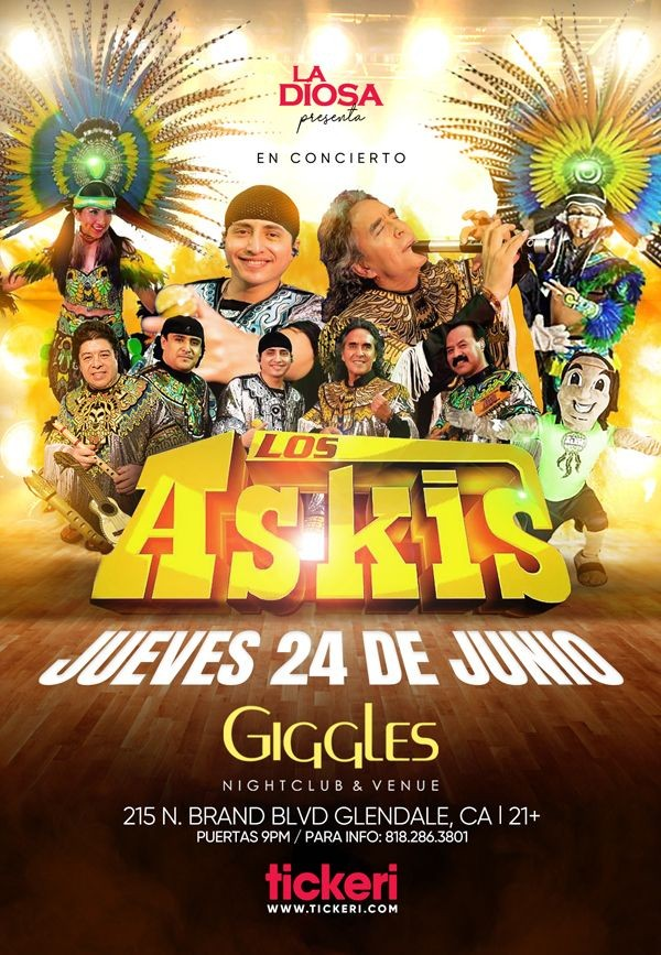 Flyer for LOS ASKIS EN LOS ANGELES