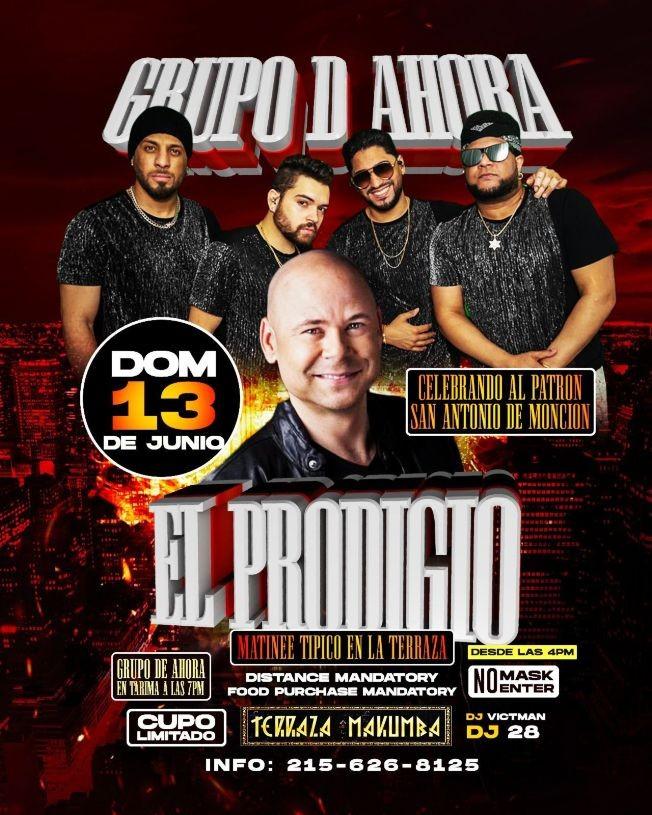 Flyer for Celebrando al Patron San Antonio de Moncion: El Prodigio y Grupo D'Ahora en Vivo!