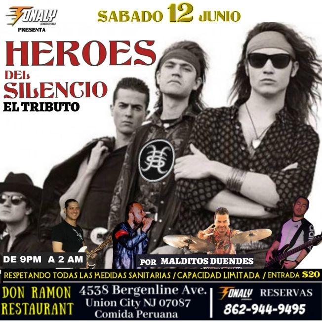 Flyer for Heroes del Silencio El Tributo