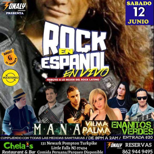 Flyer for Tributo al Rock en Español