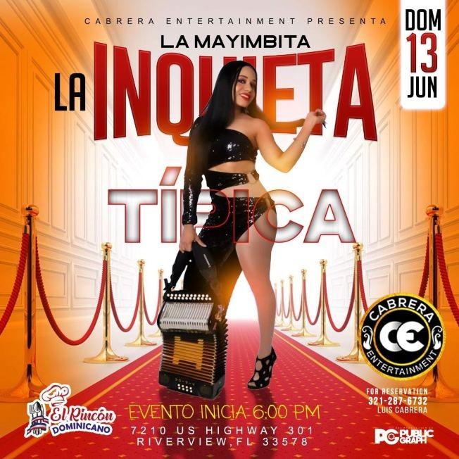 Flyer for La Mayimbita, La Inquieta Tipica