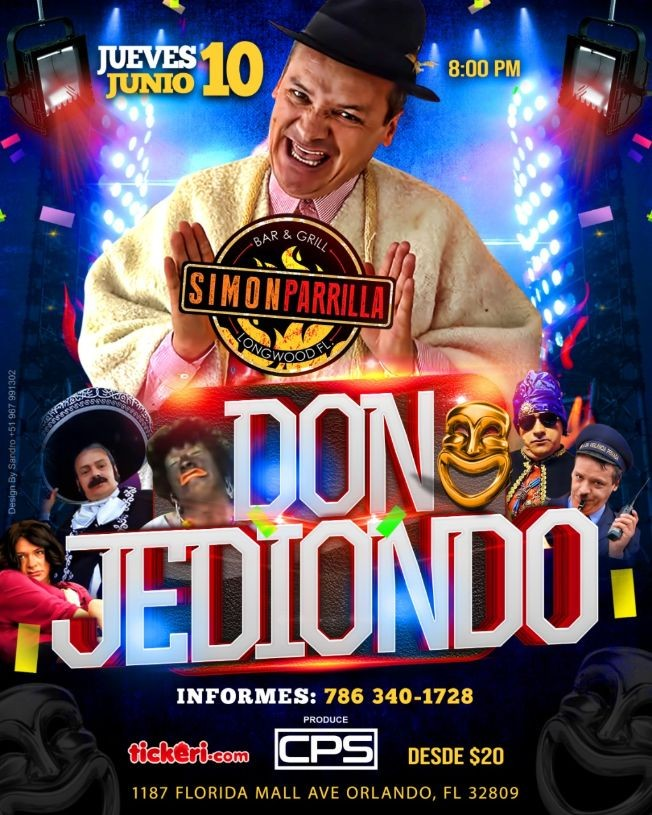 Flyer for Don Jediondo En Orlando