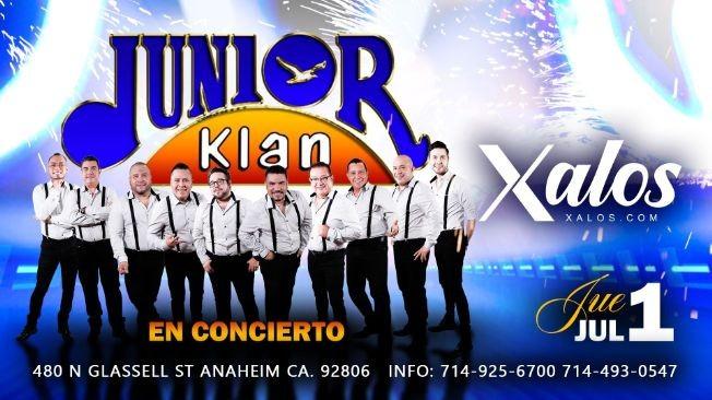 Flyer for Junior Klan en Concierto en Xalos Night Club de Anaheim!