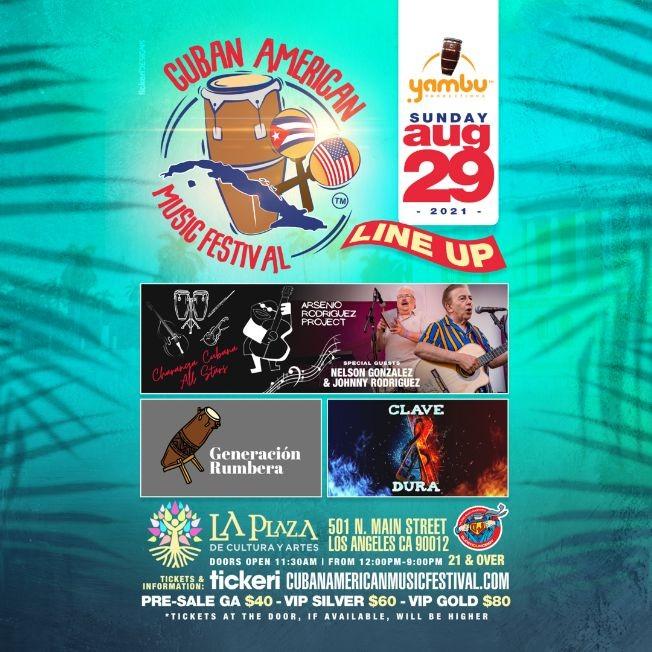 Flyer for Cuban American Music Festival 2021