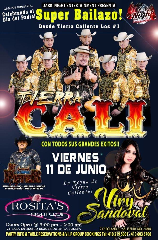 Flyer for Celebrando el Dia del Padre: Super Bailazo con Tierra Cali y Viry Sandoval en Vivo!