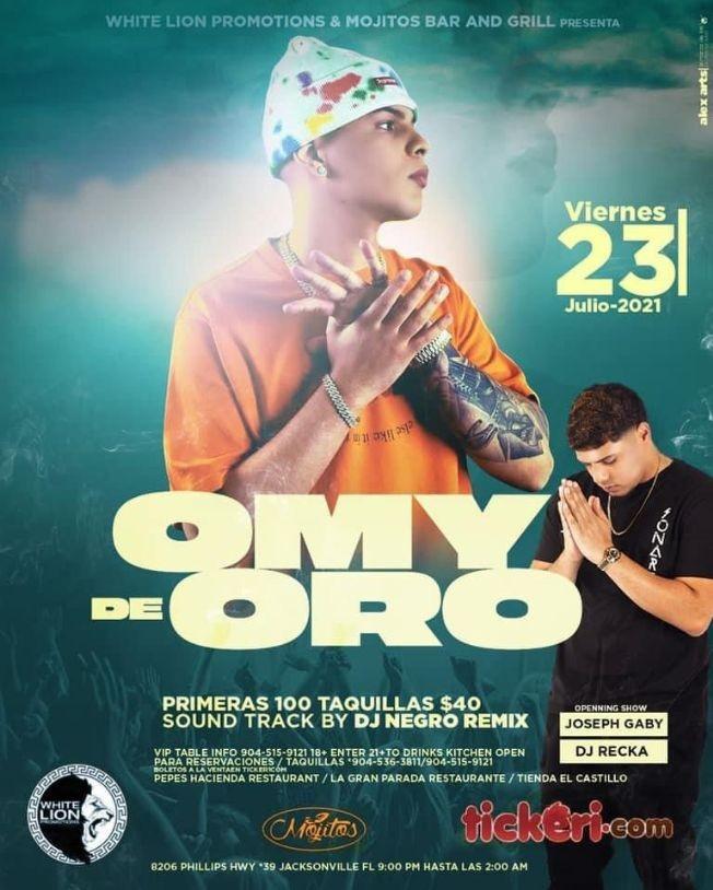 Flyer for Omy de Oro en Concierto!