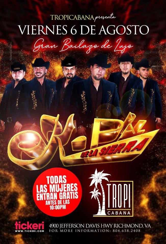 Flyer for K-PAZ DE LA SIERRA POSTPONED