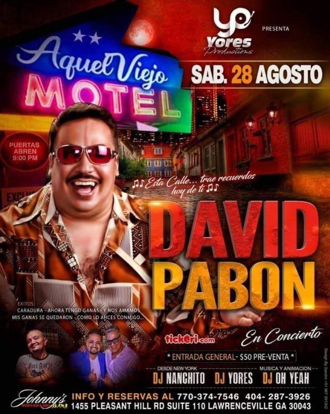 Flyer for DAVID PABON EN VIVO!