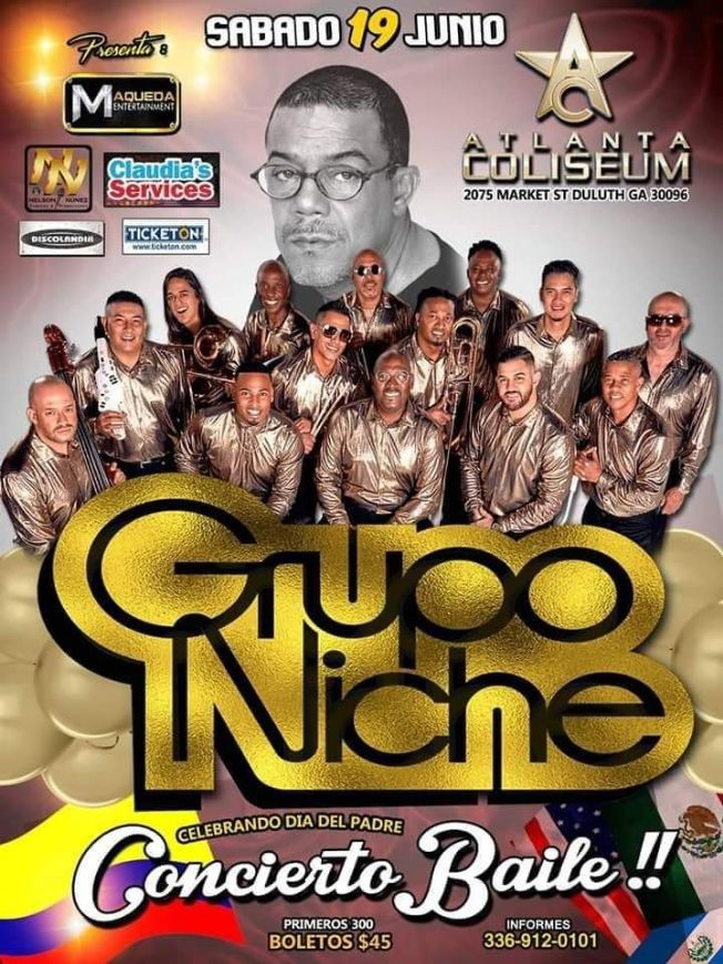 Flyer for Grupo Niche en Vivo!