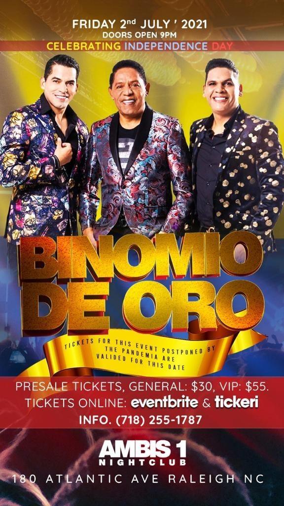 Flyer for El Binomio de Oro en Concierto! POSTPONED