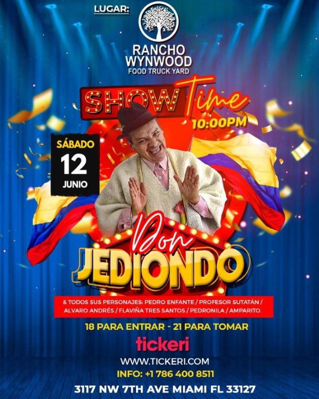Flyer for DON JEDIONDO