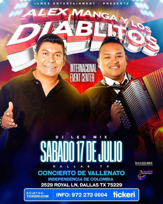 Flyer for ALEX MANGA Y LOS DIABLITOS