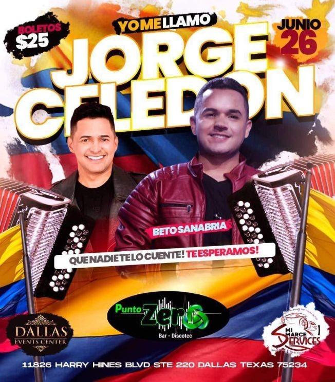 Flyer for Concerto de Yo Me Llamo Jorge Celedon este