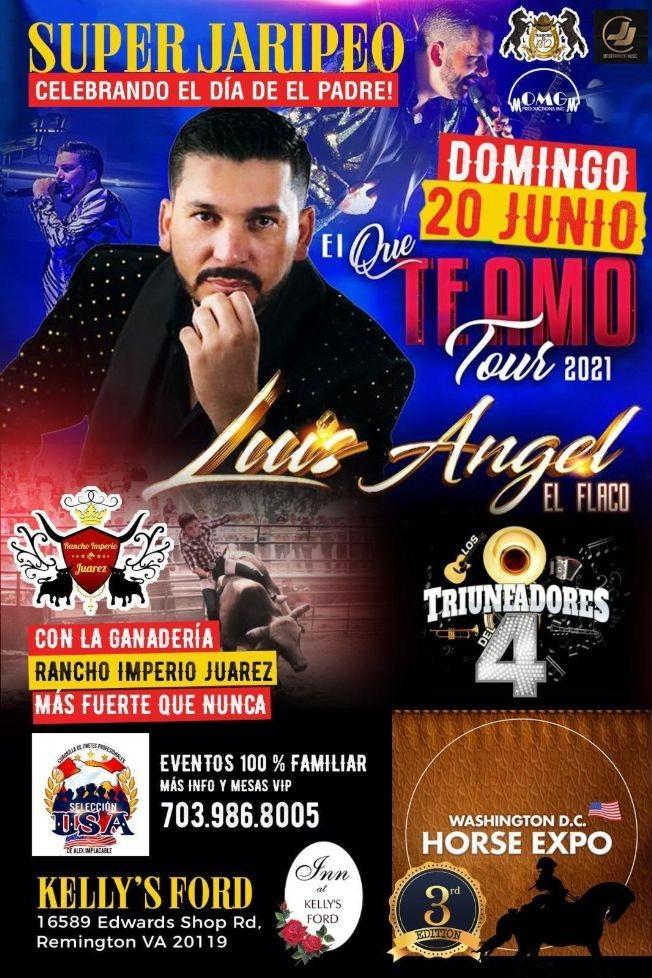 Flyer for Super Jaripeo con Luis Angel El Flaco en Vivo!