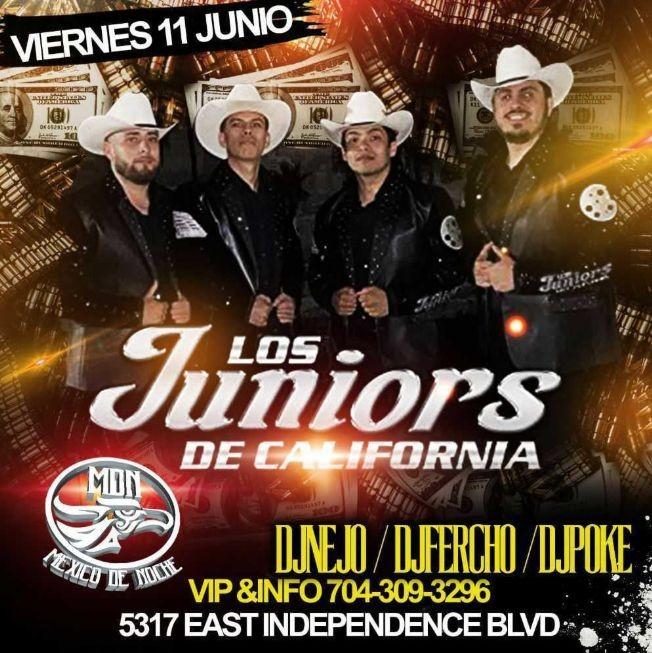 Flyer for Los Juniors de California en Vivo! Nueva Fecha!