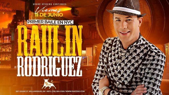 Flyer for RAULIN RODRIGUEZ