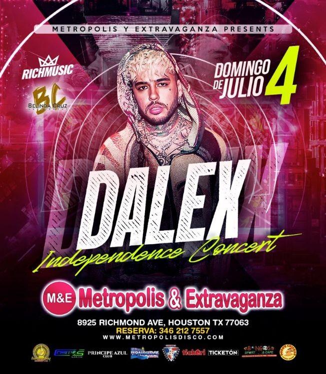 Flyer for DALEX en Concierto | Metropolis & Extravaganza📍