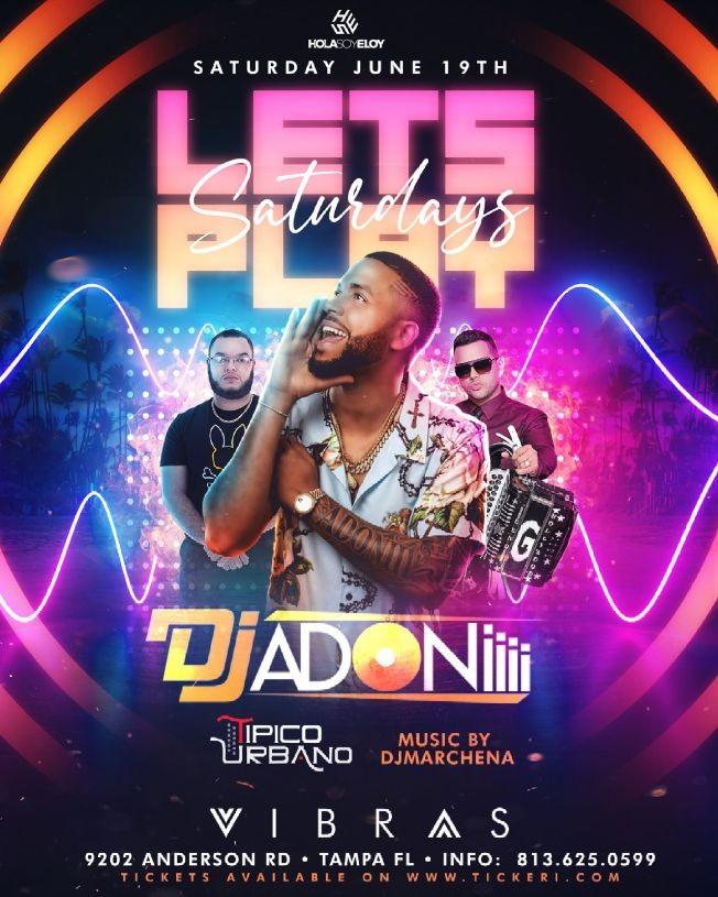 Flyer for Dj Adoni y Tipico Urbano live