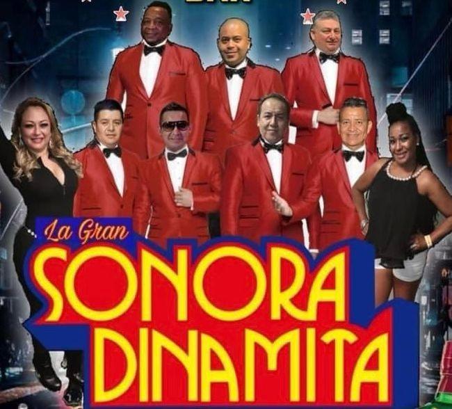 Flyer for Sonora Dinamita Celebrando el Dia del padre
