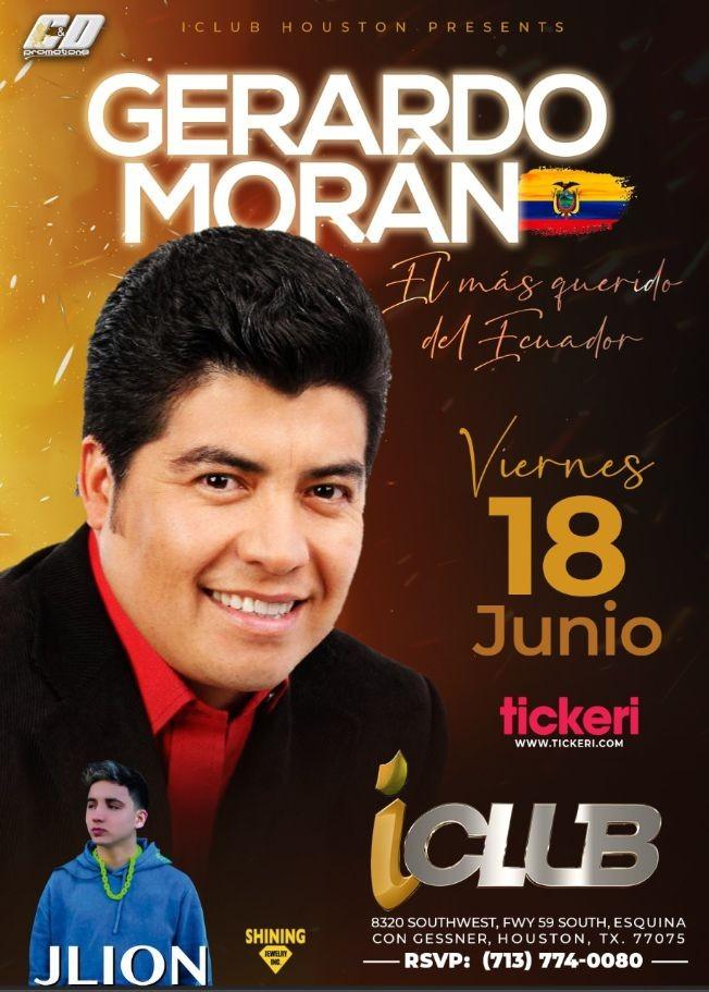 Flyer for Gerardo Moran - El Mas Querido del Ecuador