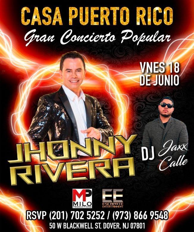 Flyer for Jhonny Rivera