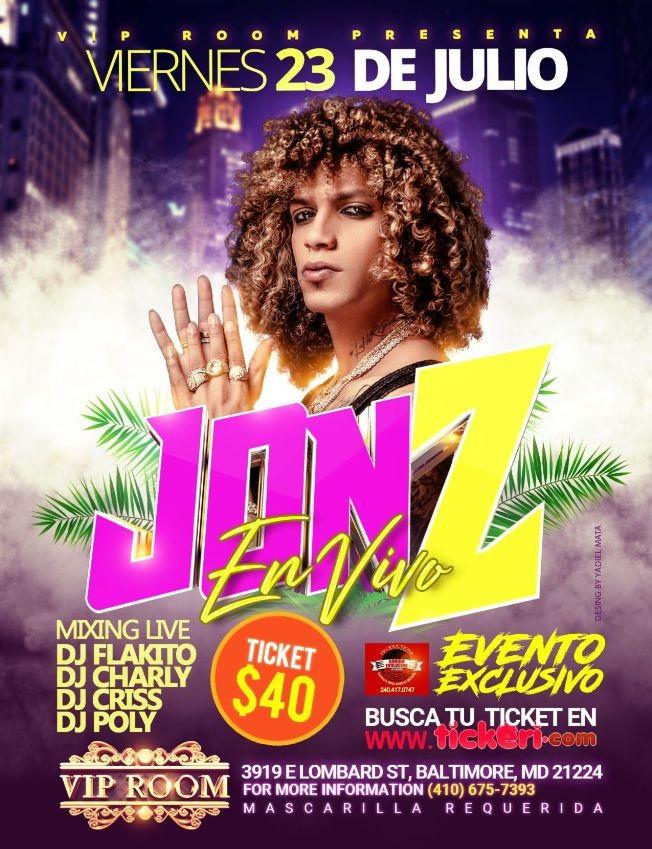 Flyer for Jon Z En Concierto  En Baltimore
