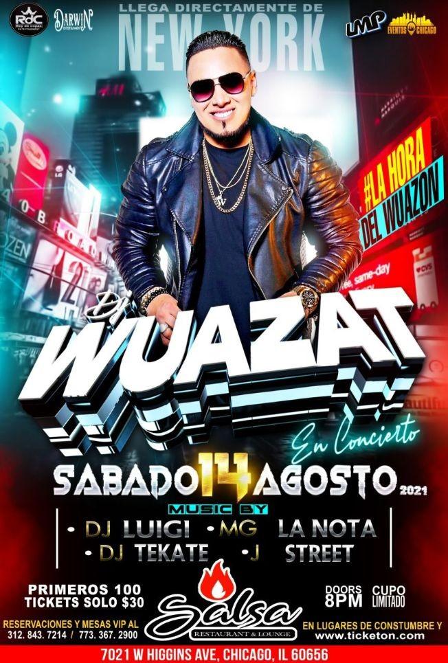 Flyer for DJ WUAZAT LLEGA A CHICAGO