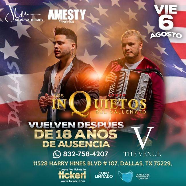 Flyer for LOS INQUIETOS DEL VALLENATO