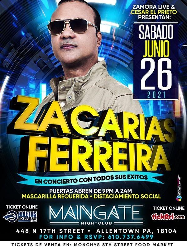 Flyer for ZACARIAS FERRIERA En Concierto