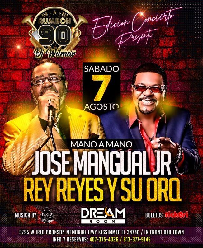 Flyer for REY REYES VS JOSE MANGUAL JUNIOR EN CONCIERTO!