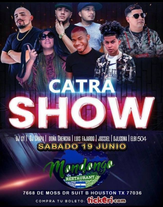 Flyer for Catra Show Houston