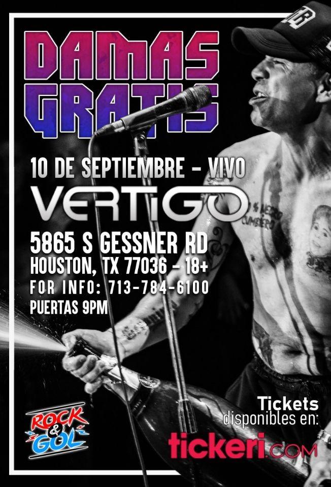 Flyer for DAMAS GRATIS EN HOUSTON