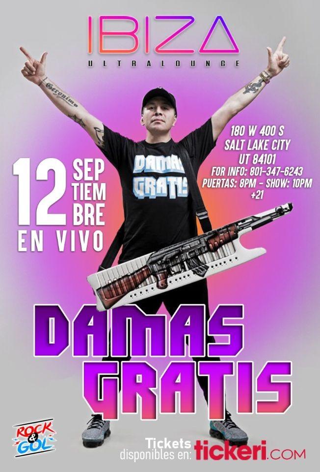 Flyer for DAMAS  GRATIS EN SALT LAKE CITY