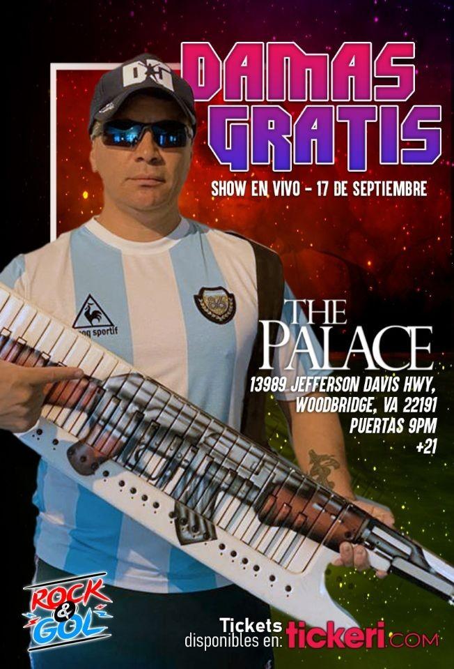 Flyer for DAMAS GRATIS EN VIRGINIA