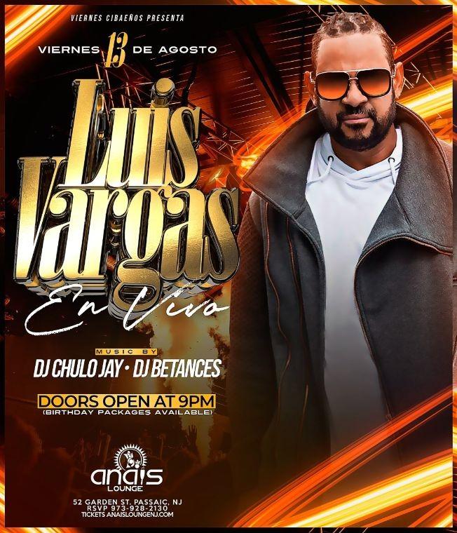 Flyer for Luis Vargas El Rey Supremo en Vivo!